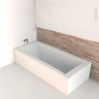 Baignoire - Rectangulaire - 180x80 cm - Acrylique renforcé - AORE