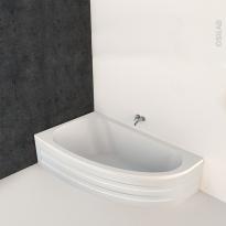 Baignoire - Asymétrique gauche - 160x90 cm - Acrylique renforcé - ONA