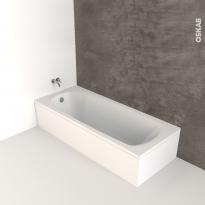 Baignoire - Rectangulaire - 170x75 cm - Acrylique renforcé - PERL
