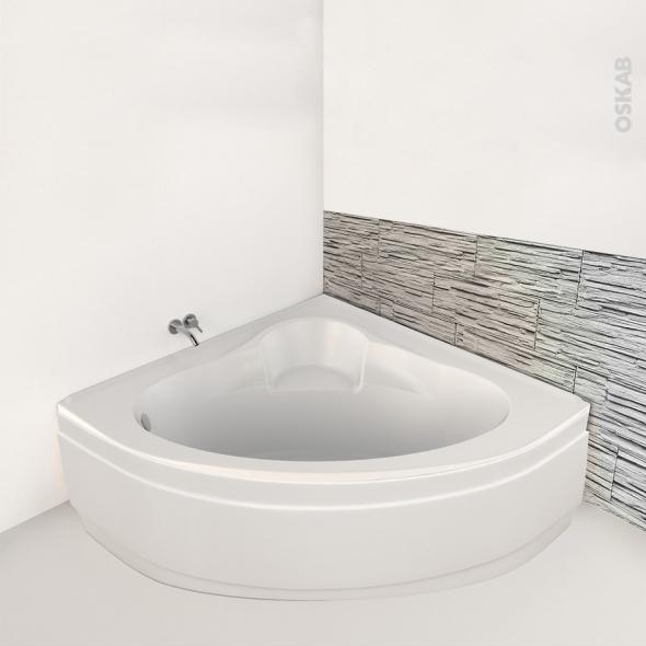Baignoire - Angle - 135x135 cm - Acrylique renforcé - BELIS