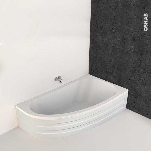 Baignoire Asymetrique Droite 160x90 Cm Acrylique Renforce Ona Oskab
