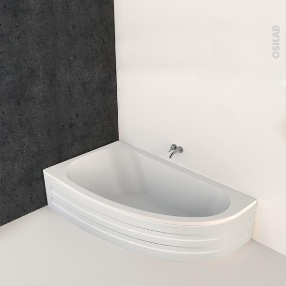 Baignoire Asymetrique Gauche 160x90 Cm Acrylique Renforce Ona Oskab