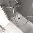 #Pare baignoire pliant - 3 volets - VIMA - 125 cm - Verre transparent - Profilés chromés