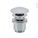 Bonde digiclic - Tige courte - Pour trop plein moulé - Chromé H58mm - VALENTIN