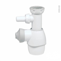 Siphon Universel - Blanc - Avec branchement LV - WIRQUIN