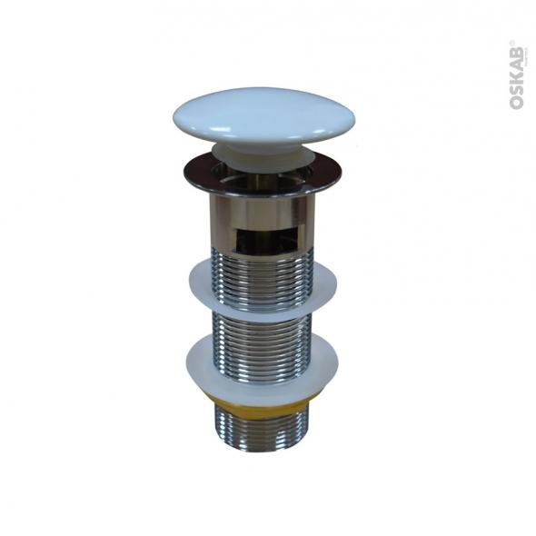 Bonde digiclic - Tige longue - Pour trop plein moulé - Couvercle blanc - H11,8mm