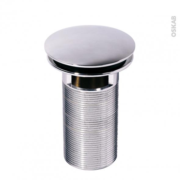 Bonde digiclic - Tige longue - Pour trop plein moulé - Chromé - H100mm - WIRQUIN