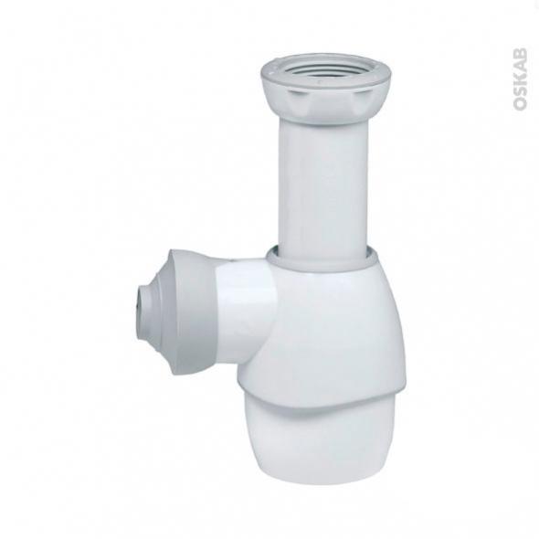 Siphon universel blanc wirquin oskab for Siphon salle de bain pau