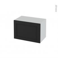 Meuble de salle de bains - Rangement bas - AVARA Frêne Noir - 1 porte - L60 x H41 x P37 cm