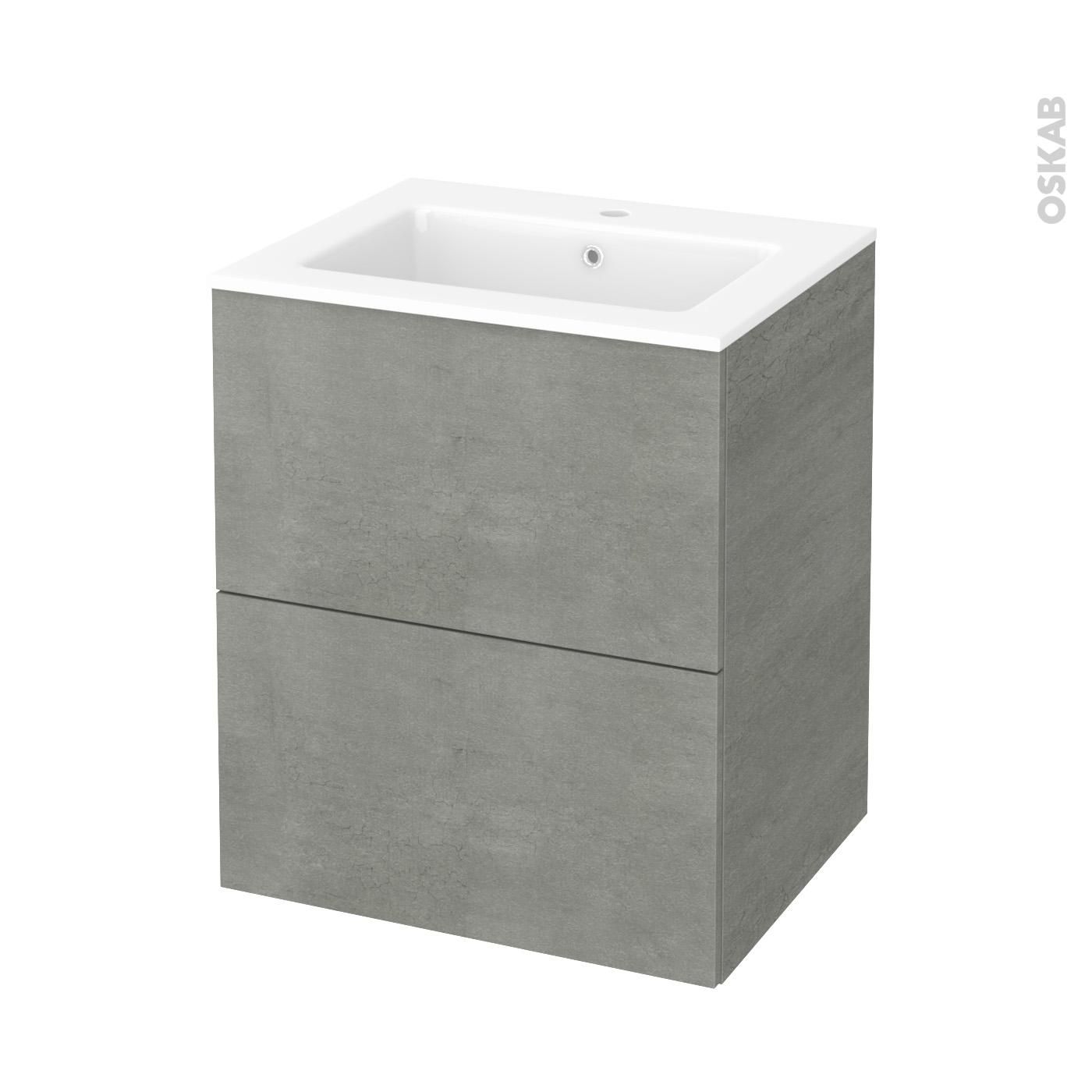Affiche Salle De Bain Humoristique ~ meuble de salle de bains plan vasque naja fakto b ton 2 tiroirs