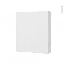 Armoire de toilette - Rangement haut - GINKO Blanc - 1 porte - Côtés blancs - L60 x H70 x P17 cm