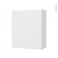 Armoire de salle de bains - Rangement haut - GINKO Blanc - 1 porte - Côtés blancs - L60 x H70 x P27 cm
