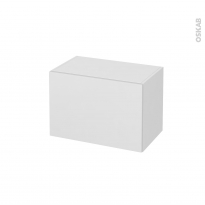 Meuble de salle de bains - Rangement bas - GINKO Blanc - 1 tiroir - L60 x H41 x P37 cm