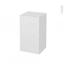 Meuble de salle de bains - Rangement bas - GINKO Blanc - 1 porte - L40 x H70 x P37 cm