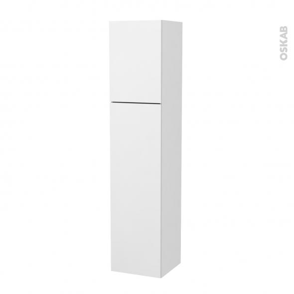 Colonne de salle de bains - 2 portes - GINKO Blanc - Côtés blancs - Version A - L40 x H182 x P40 cm