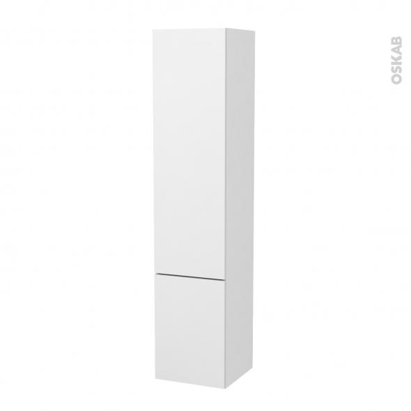 Colonne de salle de bains - 2 portes - GINKO Blanc - Côtés blancs - Version B - L40 x H182 x P40 cm