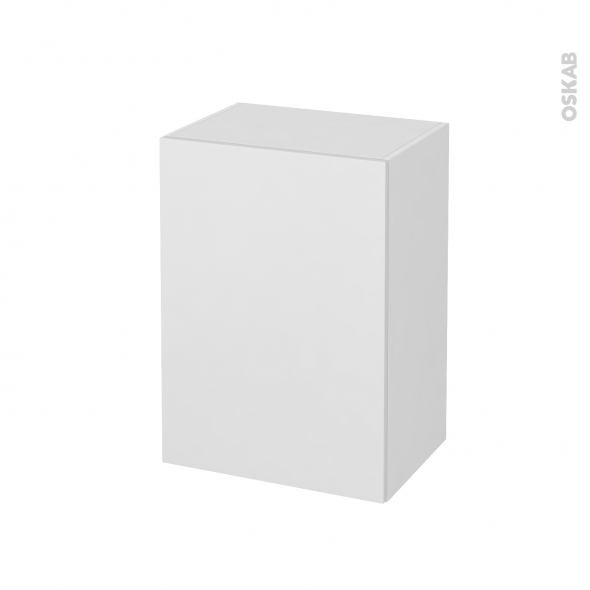 Meuble de salle de bains - Rangement bas - GINKO Blanc - 1 porte - L50 x H70 x P37 cm