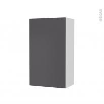 Armoire de salle de bains - Rangement haut - GINKO Gris - 1 porte - Côtés blancs - L40 x H70 x P27 cm
