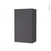 Armoire de salle de bains - Rangement haut - GINKO Gris - 1 porte - Côtés décors - L40 x H70 x P27 cm