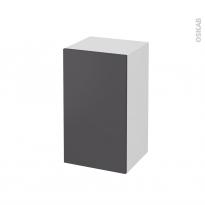 Meuble de salle de bains - Rangement bas - GINKO Gris - 1 porte - L40 x H70 x P37 cm
