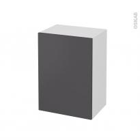 Meuble de salle de bains - Rangement bas - GINKO Gris - 1 porte - L50 x H70 x P37 cm