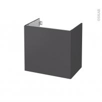 Meuble de salle de bains - Sous vasque - GINKO Gris - 1 porte - Côtés décors - L60 x H57 x P40 cm
