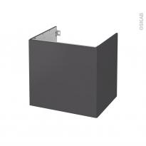 Meuble de salle de bains - Sous vasque - GINKO Gris - 1 porte - Côtés décors - L60 x H57 x P50 cm