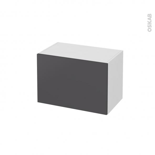 Meuble de salle de bains - Rangement bas - GINKO Gris - 1 porte - L60 x H41 x P37 cm