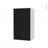 Armoire de salle de bains - Rangement haut - GINKO Noir - 1 porte - Côtés blancs - L40 x H70 x P27 cm