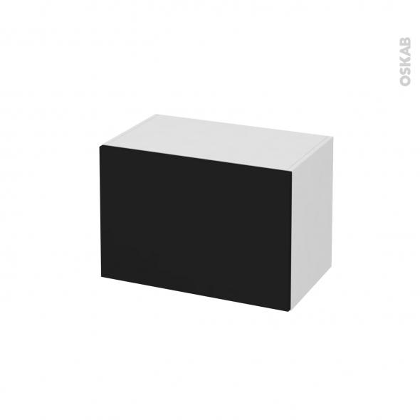 Meuble de salle de bains - Rangement bas - GINKO Noir - 1 porte - L60 x H41 x P37 cm
