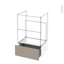 Tiroir sous meuble - Socle n°51 - GINKO Taupe - pour meuble salle de bains - L60 x H26 x P45 cm