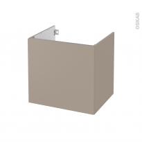Meuble de salle de bains - Sous vasque - GINKO Taupe - 1 porte - Côtés décors - L60 x H57 x P50 cm