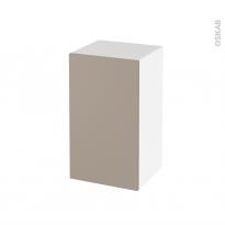 Meuble de salle de bains - Rangement bas - GINKO Taupe - 1 porte - L40 x H70 x P37 cm