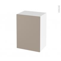 Meuble de salle de bains - Rangement bas - GINKO Taupe - 1 porte - L50 x H70 x P37 cm