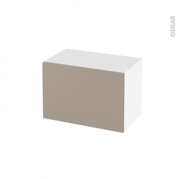 Meuble de salle de bains - Rangement bas - GINKO Taupe - 1 tiroir - L60 x H41 x P37 cm