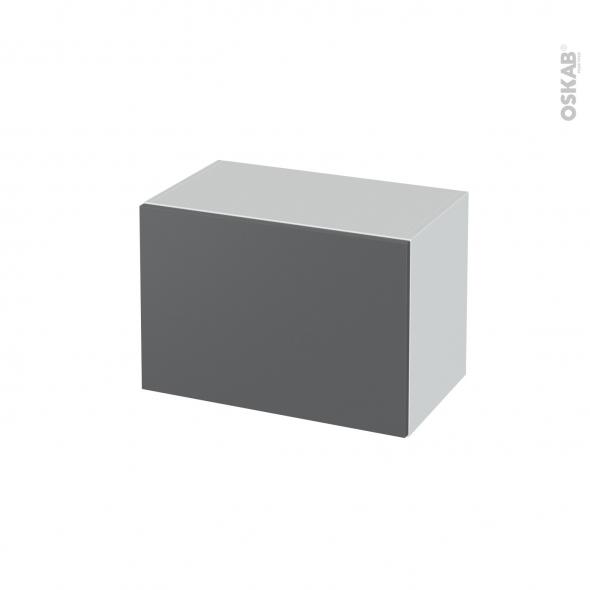Meuble de salle de bains - Rangement bas - HELIA Gris - 1 tiroir - L60 x H41 x P37 cm