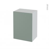 Meuble de salle de bains - Rangement bas - HELIA Vert - 1 porte - L50 x H70 x P37 cm