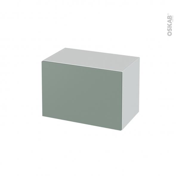 Meuble de salle de bains - Rangement bas - HELIA Vert - 1 tiroir - L60 x H41 x P37 cm