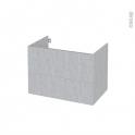 Meuble de salle de bains - Sous vasque - HODA Béton - 2 tiroirs - Côtés décors - L80 x H57 x P50 cm