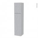 Colonne de salle de bains - 2 portes - HODA Béton - Côtés décors - Version A - L40 x H182 x P40 cm