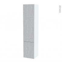 Colonne de salle de bains - 2 portes - HODA Béton - Côtés blancs - Version B - L40 x H182 x P40 cm