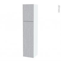 Colonne de salle de bains - 2 portes - HODA Béton - Côtés blancs - Version A - L40 x H182 x P40 cm