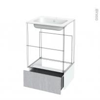 Tiroir sous meuble - Socle n°51 - HODA Béton - pour meuble salle de bains - L60 x H26 x P45 cm
