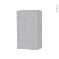 Armoire de salle de bains - Rangement haut - HODA Béton - 1 porte - Côtés décors - L40 x H70 x P27 cm