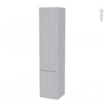 Colonne de salle de bains - 2 portes - HODA Béton - Côtés décors - Version B - L40 x H182 x P40 cm
