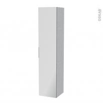 Colonne de salle de bains - 1 porte miroir - HODA Béton - Côtés décors - L40 x H182 x P40 cm