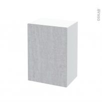 Meuble de salle de bains - Rangement bas - HODA Béton - 1 porte - L50 x H70 x P37 cm