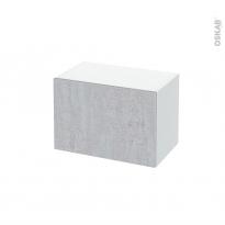 Meuble de salle de bains - Rangement bas - HODA Béton - 1 porte - L60 x H41 x P37 cm