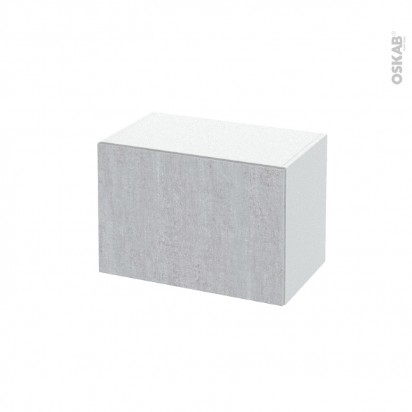 Meuble de salle de bains - Rangement bas - HODA Béton - 1 tiroir - L60 x H41 x P37 cm