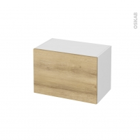 Meuble de salle de bains - Rangement bas - HOSTA Chêne Naturel - 1 porte - L60 x H41 x P37 cm
